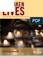 Forsaken Lives:The Harmful Impact of the Philippine Criminal Abortion Ban (executive summary)