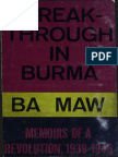 Ba Maw 1968 Breakthrough in Burma en Ocr