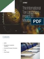 The International Tax Landscape –Impact on Mauritius IFC May 2017