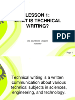 LESSON 1 What is Technical Writing