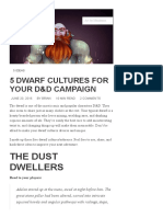 5 Dwarf Cultures for Your D&D Campaign