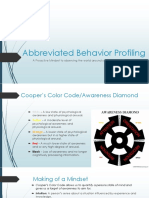 Abbreviated Behavior Profiling 2017