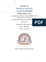 HarmanPal_Project Report on Marketing Strategy Eicher Vechiles _81467-53377_complete