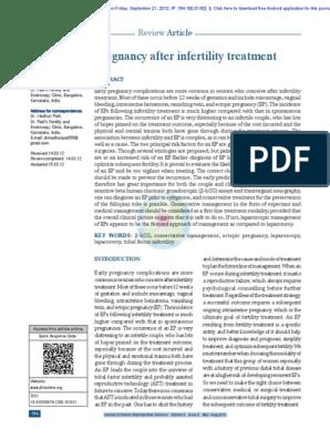 Ectopic Pregnancy   Human Chorionic Gonadotropin   Infertility