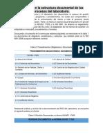 Informe Con La Estructura Documental de Los Procesos Del Laboratorio.