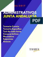 Temario Muestra Administrativo Junta de Andalucía 2017