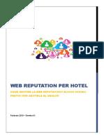 Stambol Web Reputation Per Hotel 2015