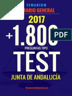 Libro Test Temario General Junta Andalucia 1800 Muestra
