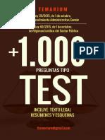Libro Test Leyes 39 y 40 2015 Procedimiento Administrativo Común 2017 Muestra