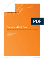 evaluation flash cards