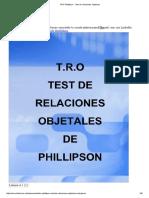 TRO Phillipson - Test de Relaciones Objetales