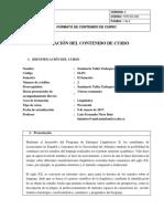 Programa Curso Seminario Enfoques Lingüísticos II.
