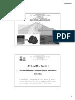 Aula 07 - Parte I - Permeabilidade e Condutividade Hidráulica Dos Solos.