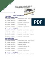Structura an Scolar Scoala Postliceala 2016 2017