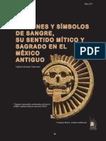 IMÁGENES Y SÍMBOLOS DE SANGRE, SU SENTIDO MÍTICO Y SAGRADO EN EL MÉXICO ANTIGUO de Alfredo Alcántar Camarena