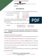 Informatii Privind Termenele de Plata a Taxelor Si Situatiile in Care Un Student Poate Fi Exmatriculat.