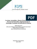 Lecciones as y Buenas Practicas Sobre Los Procesos de Desarrollo e Implementacion de Estrategias Nacionales