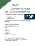 Curso - Estudando Escrita Fiscal - Prime Cursos