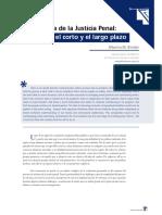 Binder. La Reforma de La Justicia Penal. Entre El Corto y El Largo Plazo
