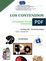 Contenidos Conceptuales Actitudinales Procedimentales