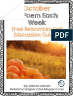 A Poem Each Week October Edition