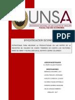 Estrategias Para Mejorar La Productividad en Las Mypes de La Industria de Calzado Cerro Colorado- Arequipa