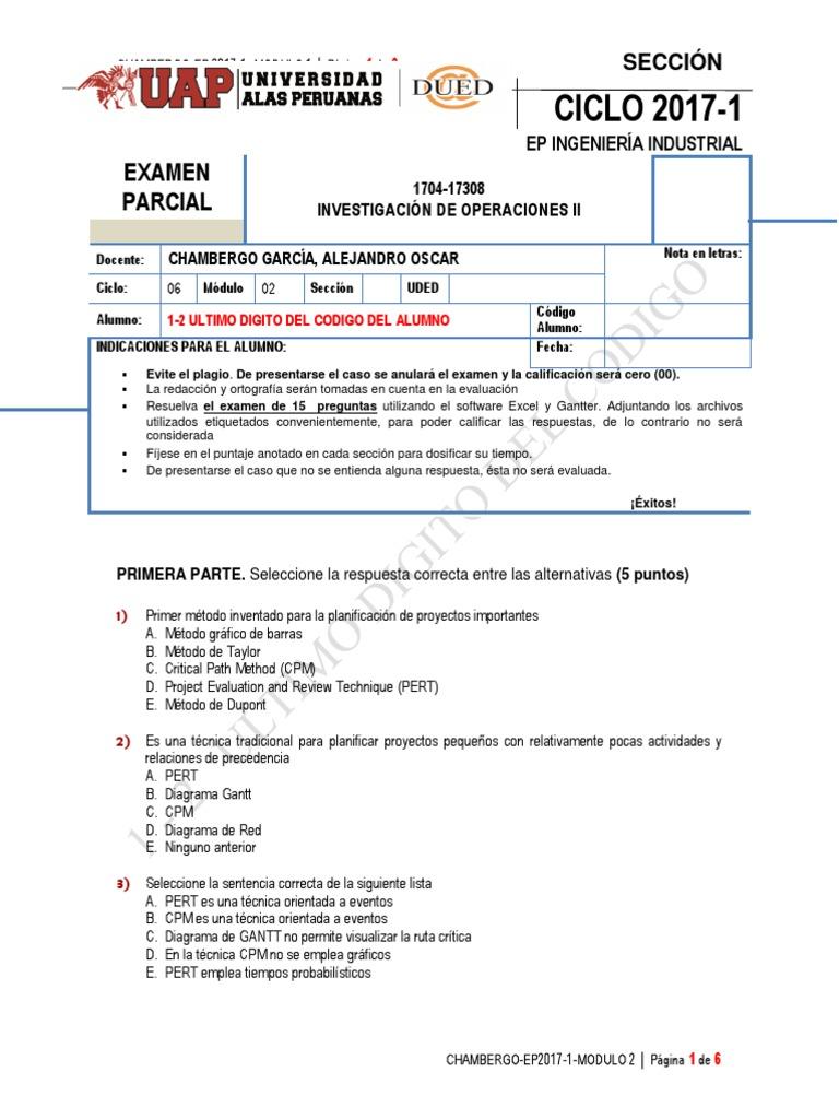 1-2 Ultimo Digito Del Codigo Examen Parcial Investigación de ...