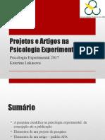 PsicExpQ2 2017 PsiExp Aula02 Projetos e Artigos