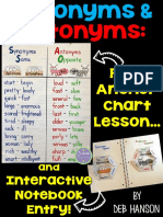 Synonym Antonym Interactive Notebook