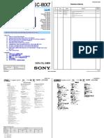 Sony Cámara DSC-WX7 Service Manual