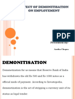 Effect of Demonitisation on Employement