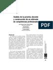 Análisis de la práctica docente y construcción de un referente de competencias profesionales_Larose y otros(2011)
