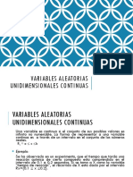 Variables Aleatorias Unidimensionales Continuas