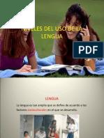 Niveles Del Uso de La Lengua - Copia