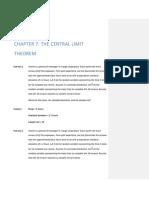 Central Limit Theorem