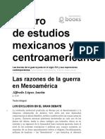 Alfredo Lopez - Las Razones de La Guerra en Mesoamérica