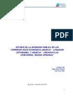 Estudio de Corredores Socio Economicos de Abancay -Andahuaylas-Chincheros, Abancay-Aymaraes-Antabamba