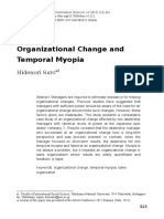 Organizational Change and Temporal Myopia (1)