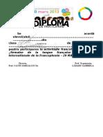 Diploma Francofonie 2013 Participare
