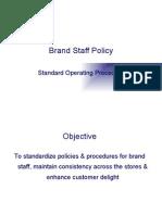 Brand Staff Policy