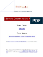 HP0-780 NonStop Structured Query Language (SQL)