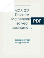 MCS-013 Discrete Mathematics solved assingment by  ignousolvedassignments.com