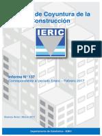 Informe de Coyuntura de la construcción Marzo 2017