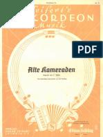 c. Teike - Alte Kameraden - Vieux Camerades - Mach - 1933 - Sheet Music