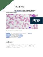 Leucocitos Altos