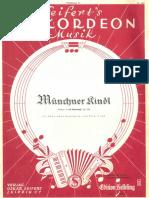 Karl Komzak - Muenchner Kindl - Walzer - 1919 - Sheet Music