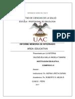 Informe Memoria Comercio 41 Internado i II