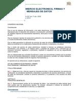 Ley de Comercio Electronico, Firmas y Mensajes de Datos