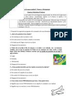 Guía de apoyo unidad I  Fuerza y movimiento Ciencias 4° basicos