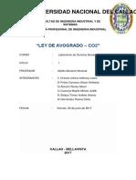 LEY de AVOGADRO Bicarbonato y Vinagre
